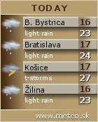 Predpoveď počasia: www.meteo.sk