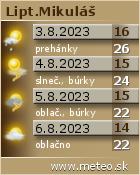 Predpoveď počasia na Lipotve