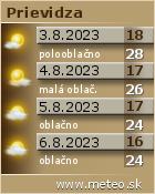 Predpoved pocasia: www.meteo.sk